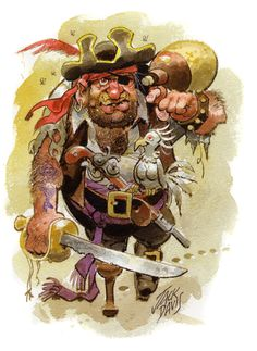 Illustrating the Sea pirate drawing by Jack Davis.