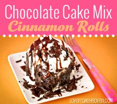 Chocolate Cake Mix Cinnamon Rolls by Love From the Oven