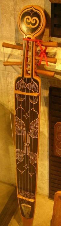 A Tonkori in the Nibutani Ainu Culture Museum in Nibutani Hokkaido Japan Lardys Chordophone of the day 2017 --- https://www.pinterest.com/lardyfatboy/