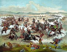 Custer's Last Fight, date and artist unknown