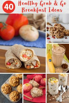 Mornings are easier when you have a few of these grab and go breakfast recipes up your sleeve. Getting out the door with a healthy breakfast in hand has never been easier! Breakfast Wraps, Grab And Go Breakfast, Breakfast Time, Breakfast Ideas, Banana Breakfast Cookie, Healthy Breakfast Muffins, Homemade Breakfast, Banana Oatmeal Smoothie, Whole Wheat Muffins