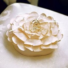 Sensational Floral Wedding Ring Bearer Pillow This unique ring pillow is no stranger to making a statement. Its exclusive petal design and pretty pearl detailing will no doubt turn heads as it makes its way down the aisle. Ring Bearer Pillows, Ring Pillows, Toss Pillows, Accent Pillows, Wedding Ceremony Decorations, Wedding Ideas, Wedding Inspiration, Wedding Favors, Wedding Details