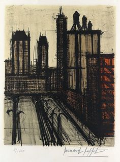 Bernard Buffet - New York V, 1967