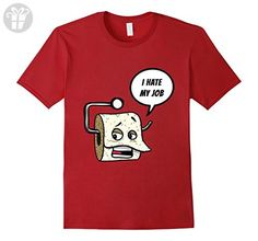 Mens I HATE MY JOB Funny T-Shirt Cool Hard Workers Gift XL Cranberry - Funny shirts (*Amazon Partner-Link)