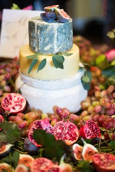 Cheese Wedding Cake Irish Wedding by Brosnan Photographic and Pearl
