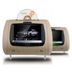 FM Jogo encosto de cabeça leitor de DVD para Carros 7 polegadas(1 Par)