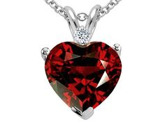 2.02 cttw Tommaso Design(tm) Genuine Garnet and Diamond Hear  What's even more perfect about it is that's it's my birthstone <3