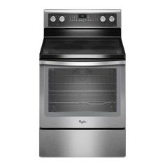 Whirlpool 6.2 cu. ft. Electric Range with Self-Cleaning Convection Oven in Stainless Steel-WFE710H0AS at The Home Depot  $700