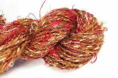 Regal splendour   Hand spun art yarn hand by misterstiltskin, $31.00