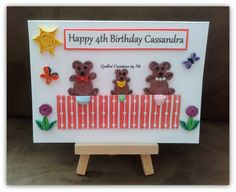 Personalised Birthday card made by Quilled Creations by Me
