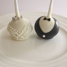 bride & groom wedding cake pops by the cake pop company | notonthehighstreet.com £28.95