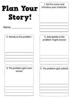 Realistic fiction graphic organizer that is great for planning a story. Writing Lessons, Teaching Writing, Writing Skills, Writing Activities, Writing Tips, Narrative Writing, Writing Workshop, Fiction Writing, Narrative Story