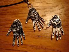 Shrinky Dink Henna Hands by Melinda.Cole, via Flickr