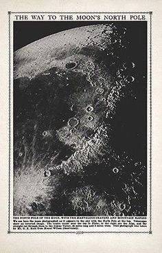 Moon Astronomy Vintage Print Craters Science Solar System Print