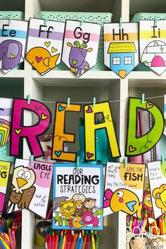 Reading Strategy Posters for emergent readers - classroom printbles #fromthepond #classroom #learningtoread