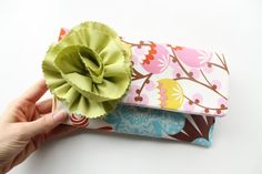 Perfectly Springy!  Clutch Purse in Spring Pink Floral with Apple by allisajacobs, @allisa jacobs