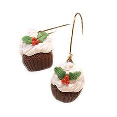 Christmas Cupcakes, Dining, Amazon, Eat, Earrings, Desserts, Handmade, Jewelry, Food