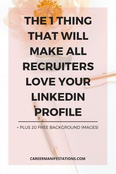 THE 1 THING THAT WILL MAKE ALL RECRUITERS LOVE YOUR LINKEDIN PROFILE #networking #linkedin #jobs #jobsearch #jobsearch #interview