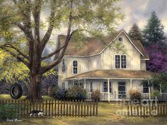 Chuck Pinson Simple Country print for sale. Shop for Chuck Pinson Simple Country painting and frame at discount price, ships in 24 hours. Farm Paintings, Country Paintings, Landscape Paintings, Farmhouse Paintings, Beautiful Paintings, Beautiful Landscapes, Arte Country, Farm Art, Thomas Kinkade