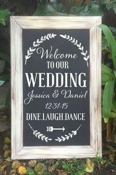 Chalkboard Wedding Welcome Sign Welcome Wedding Sign