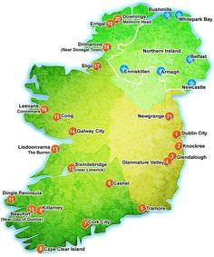 hostel irland karte Die 100+ besten Bilder zu Ireland   Map's   irland, irland karte
