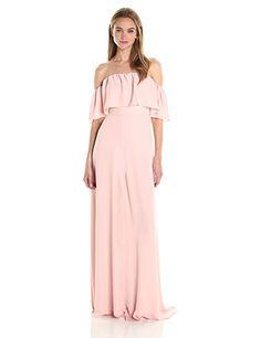 cb6098c7a8c9 Amanda Uprichard Women's Delilah Maxi Amanda Uprichard, Dress Brands, Dusty  Rose, Fitted Bodice