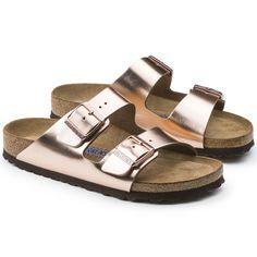 a14de2a51825 Arizona Natural Leather Metallic Copper  MetallicFashionTrends Gold  Birkenstock Sandals