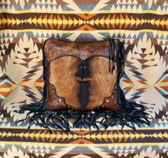 Western art pillow vintage style tooled by stargazermercantile, $395.00