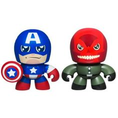 Avengers Mini Mugg Collector 2pk - CAP VS RED SKULL by Hasbro. $14.05. Tiny CAPTAIN AMERICA and RED SKULL figures are just the right size for little hands!. Includes 2 figures.. Your tiny, spunky, chunky CAPTAIN AMERICA figure is ready to do battle with your RED SKULL figure! Both are sized just right for little hands, and your CAPTAIN AMERICA figure has the signature shield of the amazing patriotic hero. With these two MINI MUGGS figures, you get a double hand...