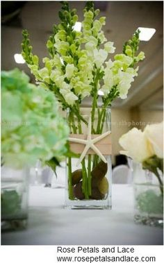 beach themed floral arrangements   You can accomplish this with any floral arrangement. Start with your ...