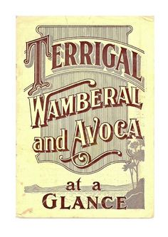 tourist guide for the areas of Terrigal, Wamberal and Avoca Beach. This version is a placeholder which will be replaced in the near future with better scans. Posters Australia, Australian Vintage, Tourist Info, Pearl Beach, At A Glance, Old Maps, Central Coast, Vintage Travel Posters, Artwork Design