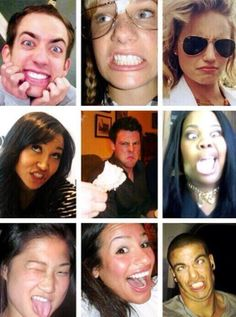 Glee cast funny faces