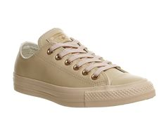 Buy Pastel Rose Tan Rose Gold Exclusive Converse All Star Low Leather from OFFICE.co.uk.