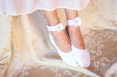 Ivory Bridal Flat Available at Hopefully Romantic on Etsy