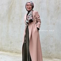 Image may contain: 1 person Simple Hijab, Hijab Fashion, Duster Coat, Cover Up, Dressing, Vest, Instagram Posts, Model, Jackets