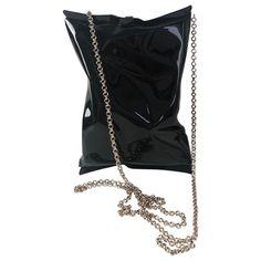 Pre-Owned Anya Hindmarch Crisp Packet Black Metal Clutch Bag Anya Hindmarch Fashion, Selfridges London, British Fashion Awards, Global Brands, Design Museum, British Style, World Of Fashion, Black Metal, Luxury Branding