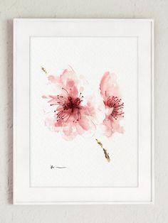 Stampa di arte dell'acquerello del fiore di di ColorWatercolor