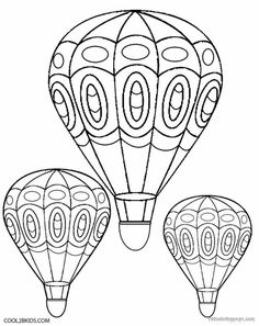 Free Printable Hot Air Balloon Coloring Pages