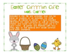 easter common core games.