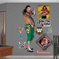 WWE Jake the Snake Roberts Peel and Stick Wall Decal