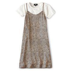 Bardot Junior Leopard Slip Dress ($60) ❤ liked on Polyvore featuring dresses, bardot junior, leopard print dresses, 2 piece dress, leopard dresses and two piece dresses