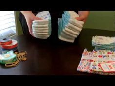 Super Cute... How To Make A Small Bassinet Diaper Cake Video Clip ~ so cute, uses 16 size 1 diapers... GREAT video tutorial!