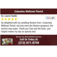 So delighted with my wedding flowers from +Columbia Midtown Florist, not only were the...