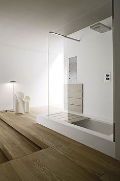 I love the idea of a shower that could convert to a bathtub anytime I wanted a bath - Unico | Rexa Design