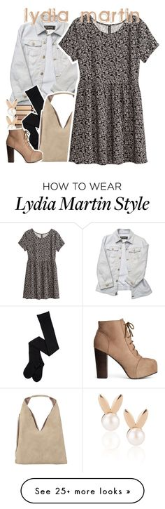 """""""— lydia martin bound ☾"""" by rosey-wolf-x on Polyvore featuring Versace, INZI, H&M and Aamaya by priyanka"""