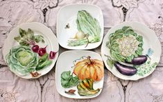 China Painting, Ceramic Painting, Dinner Plate Sets, Dinner Plates, Fruit Art, Hand Painted Ceramics, Plates And Bowls, China Porcelain, Ceramic Pottery