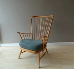 Vintage #ercol no. 913 mid century #windsor stick back blonde chair #armchair 196, View more on the LINK: http://www.zeppy.io/product/gb/2/112035619464/
