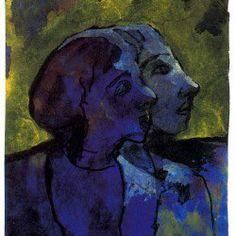 Emil Nolde「Blue Couple(in Profile)in Sidelight」