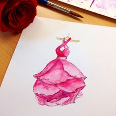 Red rose dress, by Grace Ciao