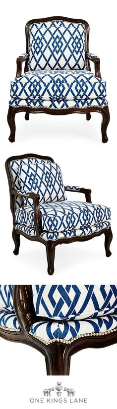 The easiest way to bring a touch of Parisian-chic to your home is with a gorgeous accent chair. If you can't get away, find a little bit of Parisian flair for your home on One Kings Lane.